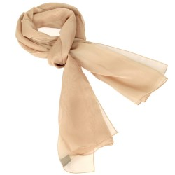 Foulard Etole foulard touché soie beige