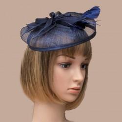 chapeau de mariage bleu marine