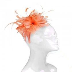 Chapeau mariage Bibi mariage fleur orange