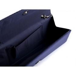 pochette satin bleu marine. Black Bedroom Furniture Sets. Home Design Ideas