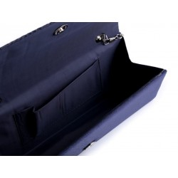 Pochette satin noir