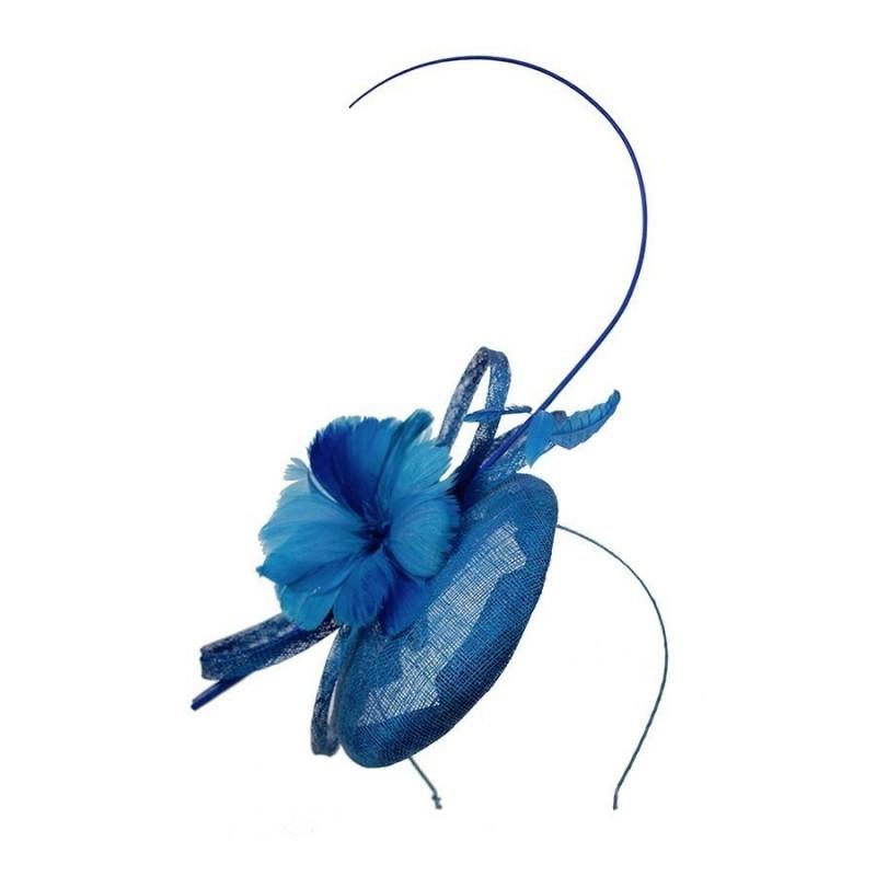 Chapeau mariage Chapeau mariage bleu royal