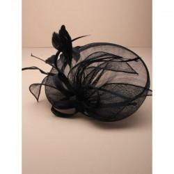 Chapeau mariage noir