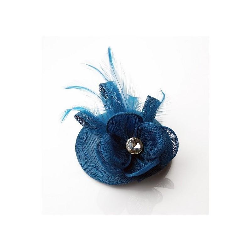 Chapeau mariage Bibi fascinateur bleu turquoise