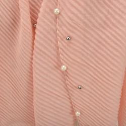 Echarpe plissé soleil et perles rose