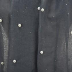 Etole légère perles et paillettes grise
