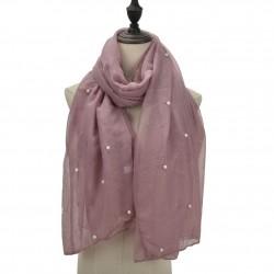 Etole légère perles et paillettes rose mauve
