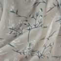 Etole imprimée ramages fleuris gris clair