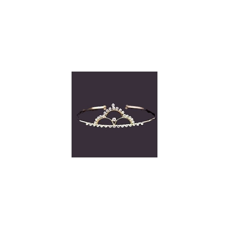 Tiare dorée ornée de cristaux