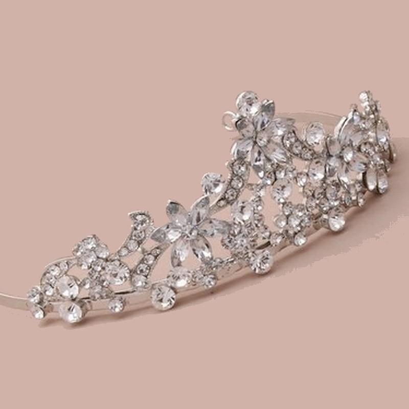 Diadème tiare avec cristaux