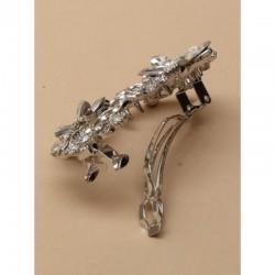 Barrette clip fleur cristal