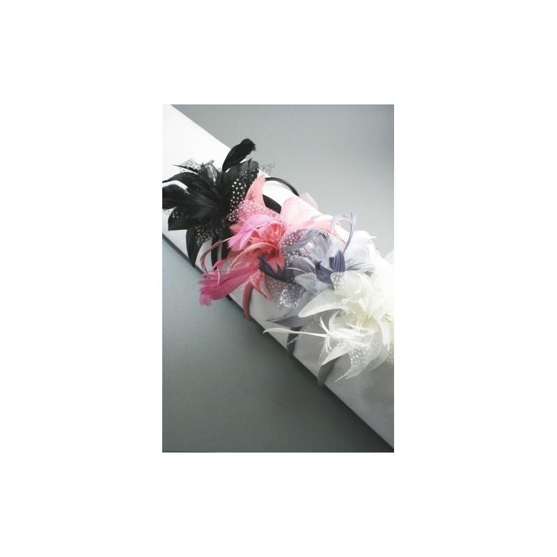 Headband fleur satin ivoire