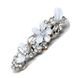 Barrette mariage fleurs cristal