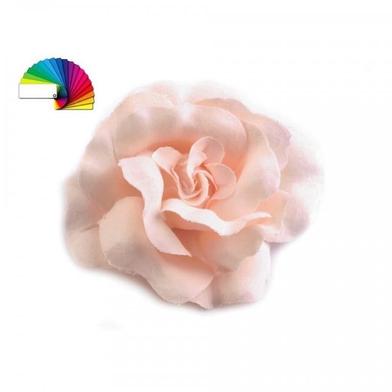 2 Roses pour cheveux ou broche rose saumon