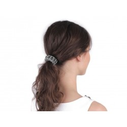 Elastique à cheveux avec perles noires