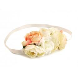 Bandeau floral stretch / Accessoire de coiffure mariage champêtre