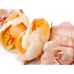 Headband cordon cuir et fleurs / Accessoire de coiffure mariage champêtre