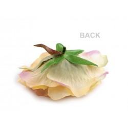 Fleur tissu broche ou pince cheveux - Blanc ivoire