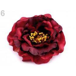 Fleur tissu broche ou pince cheveux - Rouge