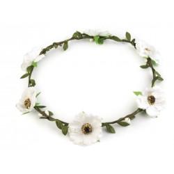 Couronne de fleurs blanches / Mariage champêtre, naturel, romantique, vintage