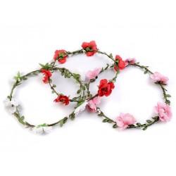 Couronne de fleurs Ivoires/ Mariage champêtre, naturel, romantique, vintage