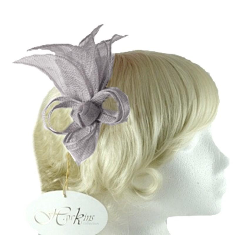 Accessoire coiffure en sisal gris