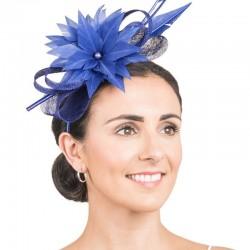 Bibi de cérémonie bleu royal
