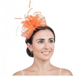 Bibi mariage fleur orange