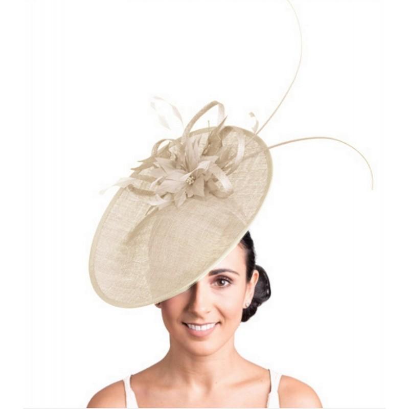 Chapeau de mariage fleur ivoire