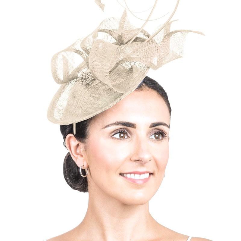 Bibi chapeau mariage champagne / Bibi cérémonie, accessoire coiffure mariage