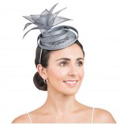 Chapeau de mariage gris / Bibi chapeau mariage, accessoire de coiffure