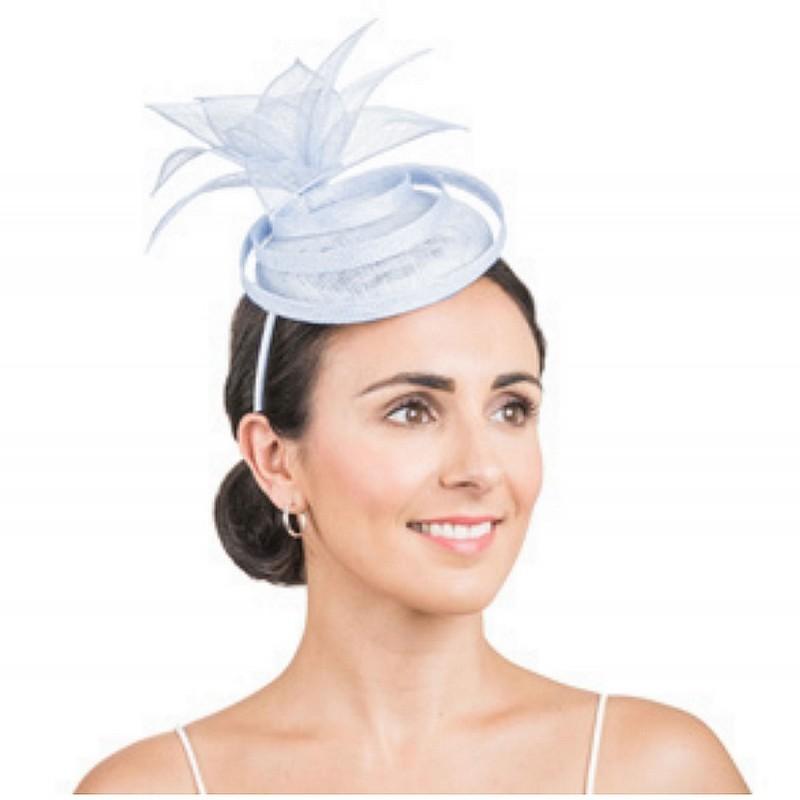 Chapeau de mariage bleu ciel / Bibi chapeau mariage, accessoire de coiffure