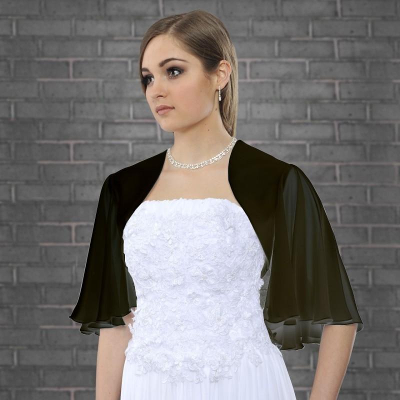 Veste habillée voile noire à manches chauve souris, veste légère en voile noir