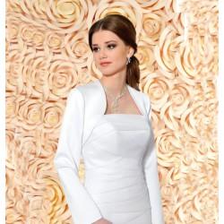 76da8ca5571 Veste de mariée satin manches longues