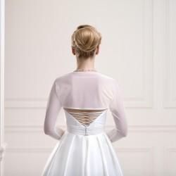Bolero de mariage en voile manche longues, boléro de mariée transparent et extensible, veste gilet stretch voile transparent