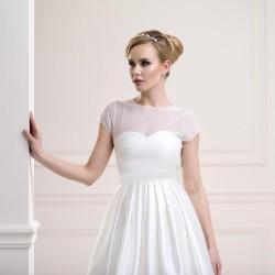 T-shirt voile transparent, top de mariage voile blanc ou ivoire, top de mariée transparent voile