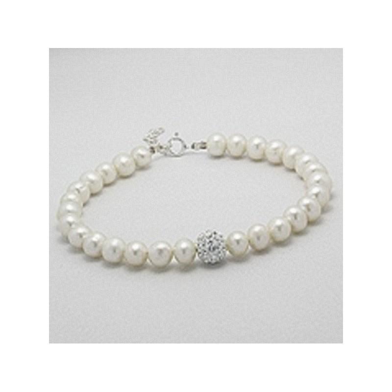 Bracelet perles et shamballa strass
