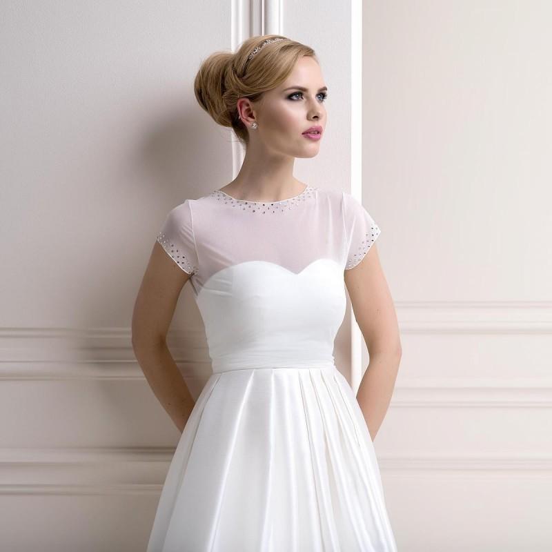 T-shirt voile transparent et cristal Swarovski appliqué, top de mariage voile blanc ou ivoire