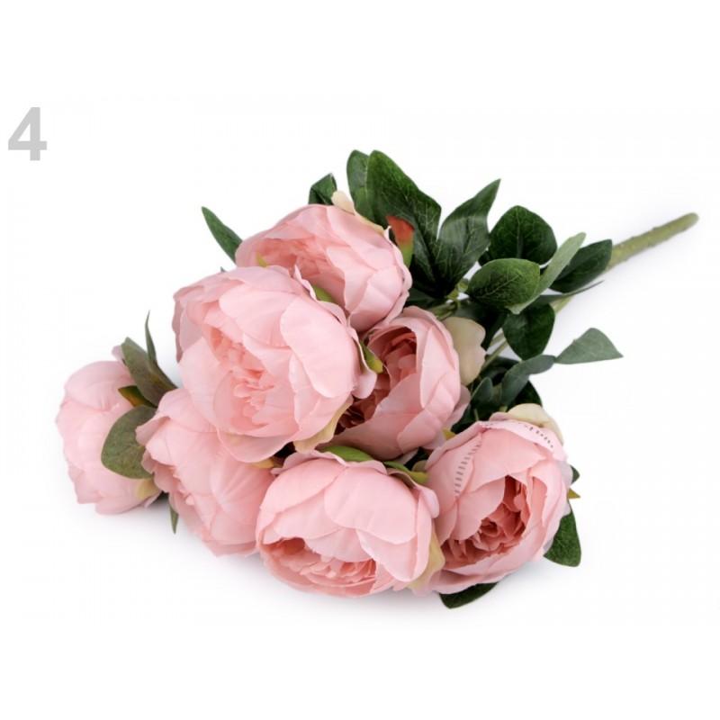 Bouquet de fleurs mariage Rose saumon / Fleurs en tissu, pivoines artificielles, décoration fleurs mariage