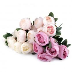 Bouquet de fleurs mariage Rose clair / Fleurs en tissu, pivoines artificielles, décoration fleurs mariage