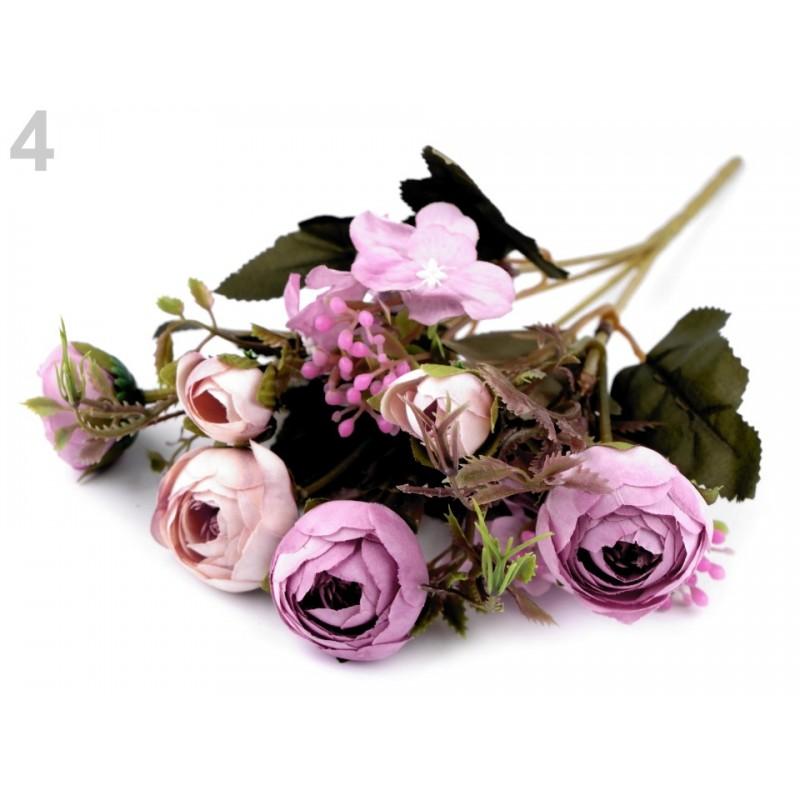 Bouquet de fleurs mariage violet clair / Fleurs en tissu, renoncules artificielles, fleurs mariée