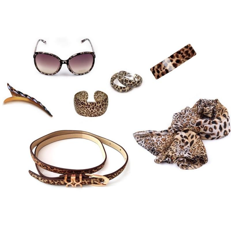 Lot accessoires imprimés léopard - DESTOCKAGE