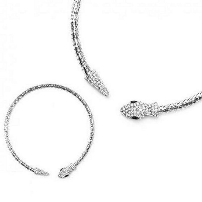 cheap for discount top design special for shoe Collier ras de cou cristal et serpent / parure bijoux mariée, bijoux  mariage, collier strass mariage