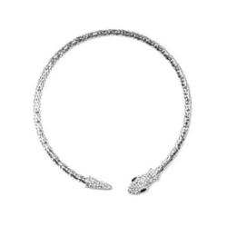 Collier ras de cou cristal et serpent / parure bijoux mariée, bijoux mariage, collier strass mariage