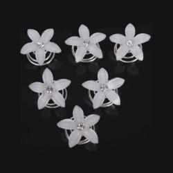 4 spirales curlies mariage fleurs cristal