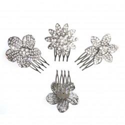 3 peignes cristal 5cm / Accessoire de coiffure mariage, peigne cheveux mariée