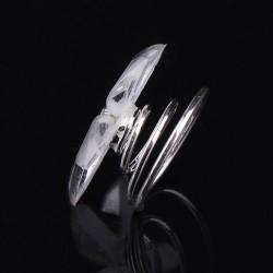 6 spirales curlies mariage fleurs cristal