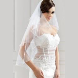 Voile de mariée double couche