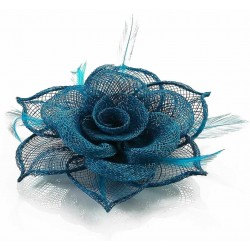 Bibi ceremonie en sisal bleu