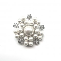 Broche perles et strass